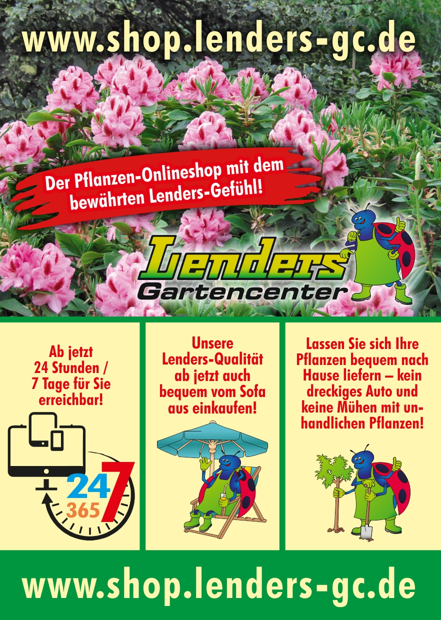 lenders pflanzen online ist gestartet lenders gartencenter. Black Bedroom Furniture Sets. Home Design Ideas