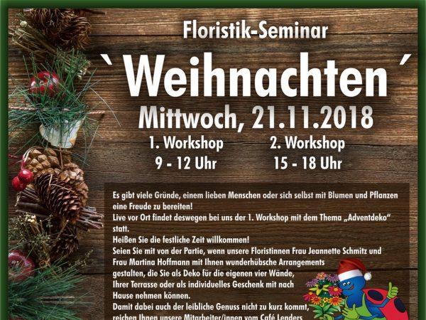"1. Floristik-Seminar ""Weihnachten"""