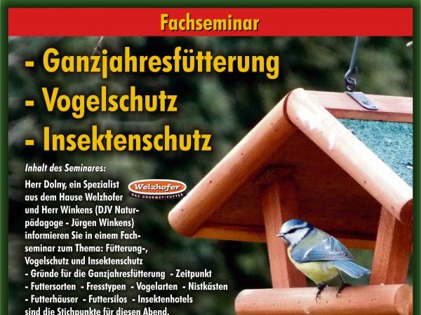 Seminar Ganzjahresfütterung und Vogel- und Insektenschutz